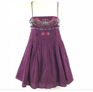 Free People Embroidered Spaghetti Strap Dress 4